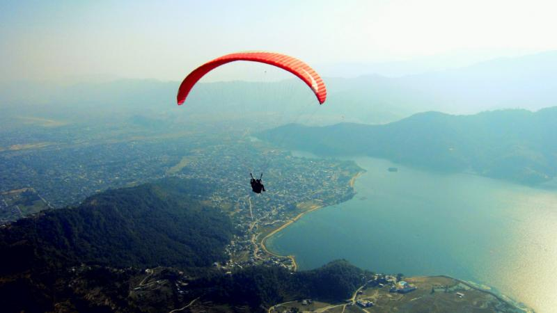 Paragliding in Nepal